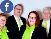 Denise Beisenherz (2. von rechts) von der LVM-Agentur Iske in Usseln informiert täglich bei Facebook