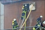 Über eine Steigleitung konnte die Feuerwehr den Bunker mit Löschwasser fluten.