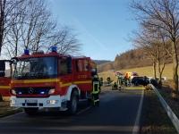 Zwischen Hoppecke und Brilon ereignete sich am Freitag ein schwerer Unfall.