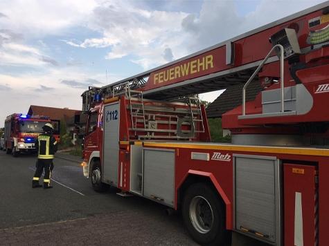 In Frankenberg schlug am Dienstag ein Blitz in eine Antenne ein.