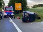 Am 24. Juni ereignete sich ein Alleinunfall auf der B253 bei Wega.