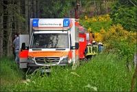 Im Wald wurde der Mann erstversorgt und dann mit dem Hubschrauber ins Krankenhaus gebracht.